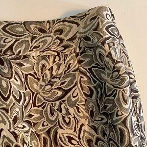 Ann Taylor Loft Brocade Skirt   4